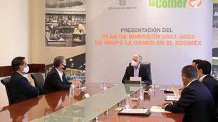 Edoméx presenta plan de inversión 2021-2023 del Grupo La Comer