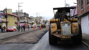 Avanza repavimentación de avenida Alpinismo en Toluca