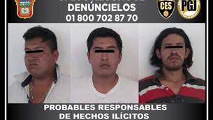 Detienen a tres en Temascaltepec por delitos contra la salud