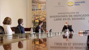 Se reúne Gobernador Del Mazo con directivos de la compañía Mercado Libre