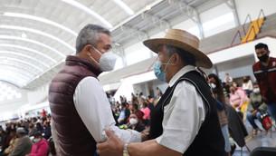 Entregan apoyos por 35 millones de pesos a familias afectadas por las lluvias en Ecatepec