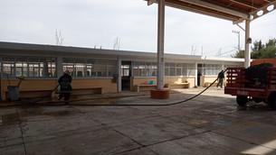 Laboran brigadas en atención a escuelas para el regreso a clases seguro en Texcoco