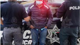 Capturan a violento ladrón en la delegación de San Buenaventura en Toluca