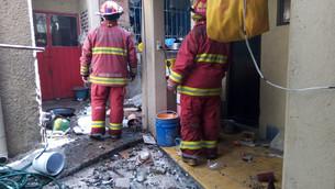 Explosión en domicilio de Tultepec deja una mujer lesionada