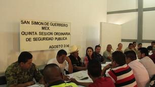 Refuerzan acciones en materia de seguridad en San Simón de Guerrero