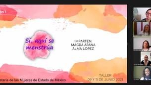 Capacitan a mujeres mexiquenses en temas de menstruación segura y asequible
