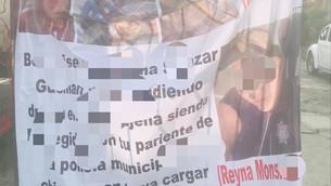 Aparece narco-manta para amenazar a par de mujeres; una  presuntamente es policía