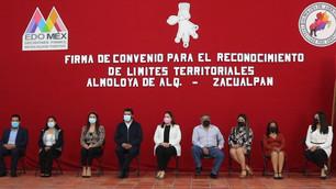 Firman Zacualpan y Almoloya de Alquisiras convenio para reconocimiento de límites territoriales