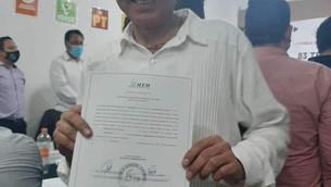 Recibe Rigoberto López Rivera constancia de mayoría como alcalde electo de Tejupilco