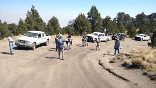 Patrullan zona del Nevado de Toluca para evitar quemas irregulares