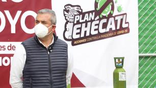 Cita Fiscalía a edil de Ecatepec por abrir centro de distribución de oxígeno en un parque