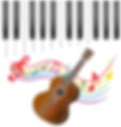 ukulele keyboard musical notes