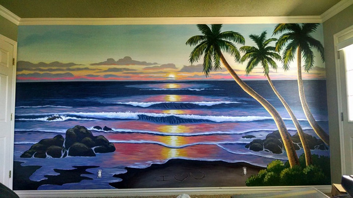 Hawaiian Sunset Mural