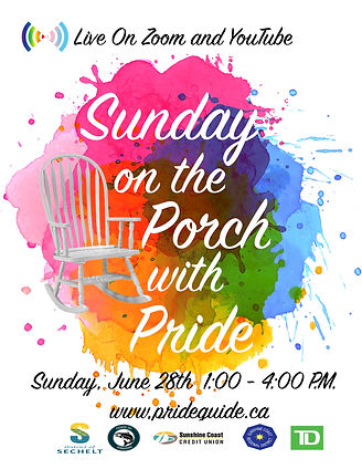 Sunday on the Porch with Pride Poster wi