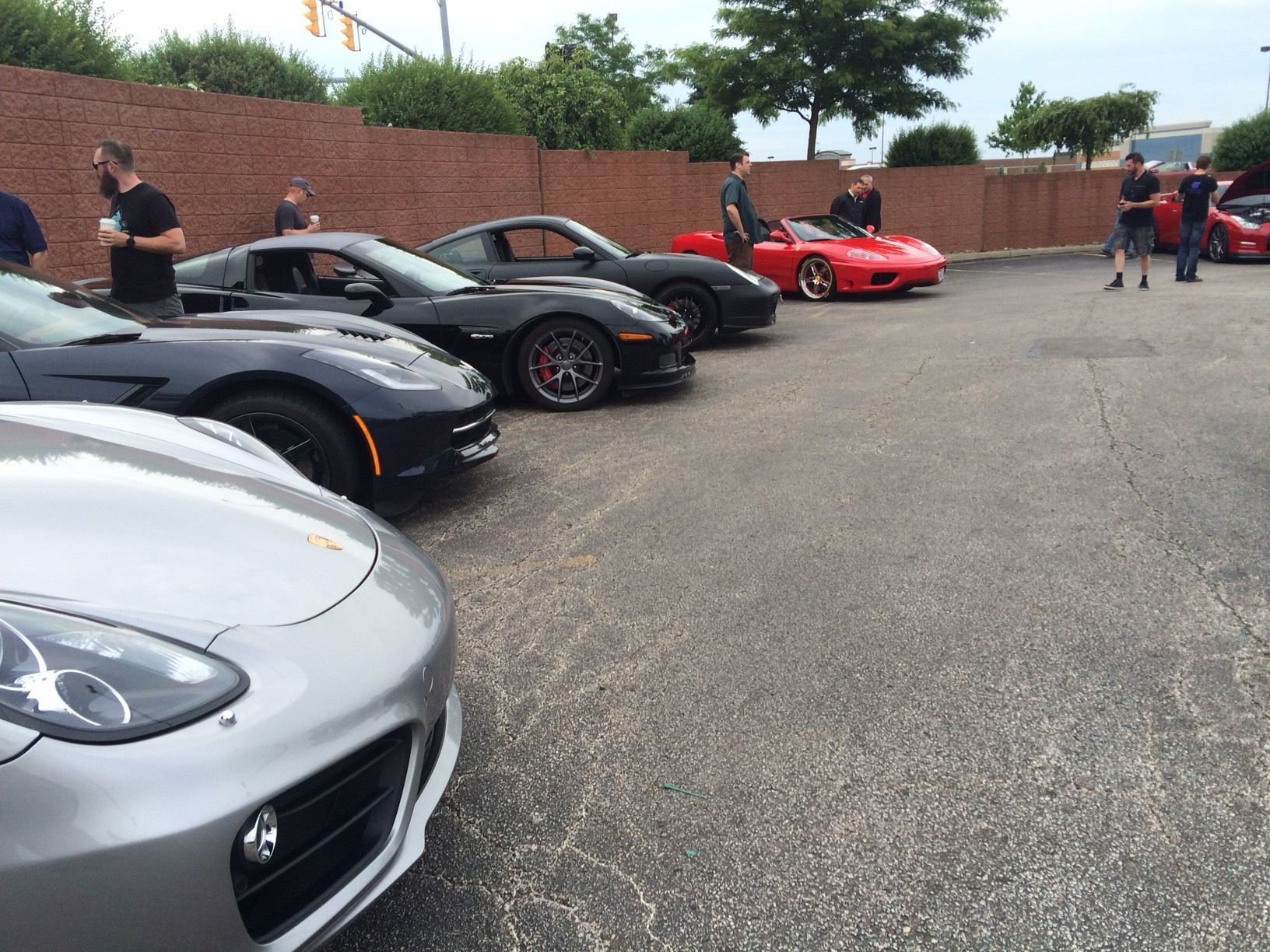 Porsches, Corvette's and a Ferrari