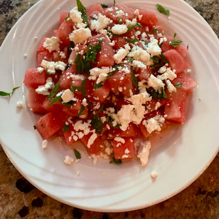 Watermelon Salad with Goat Cheese