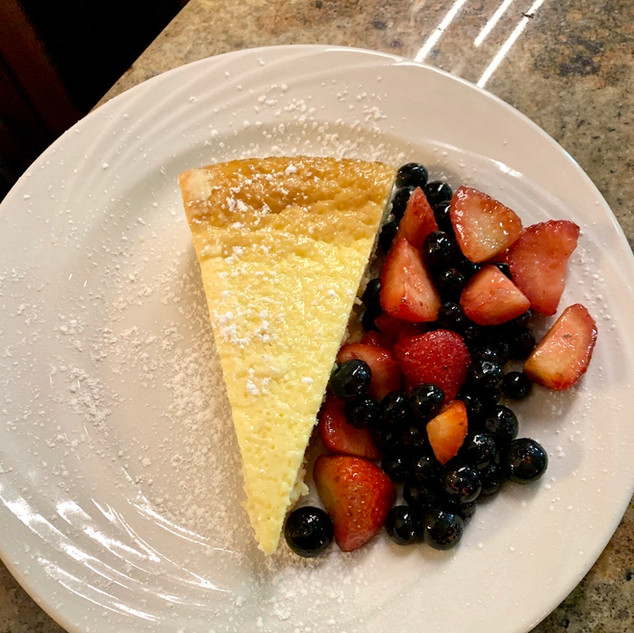 Homemade Italian Ricotta Cheesecake with Berry Salad