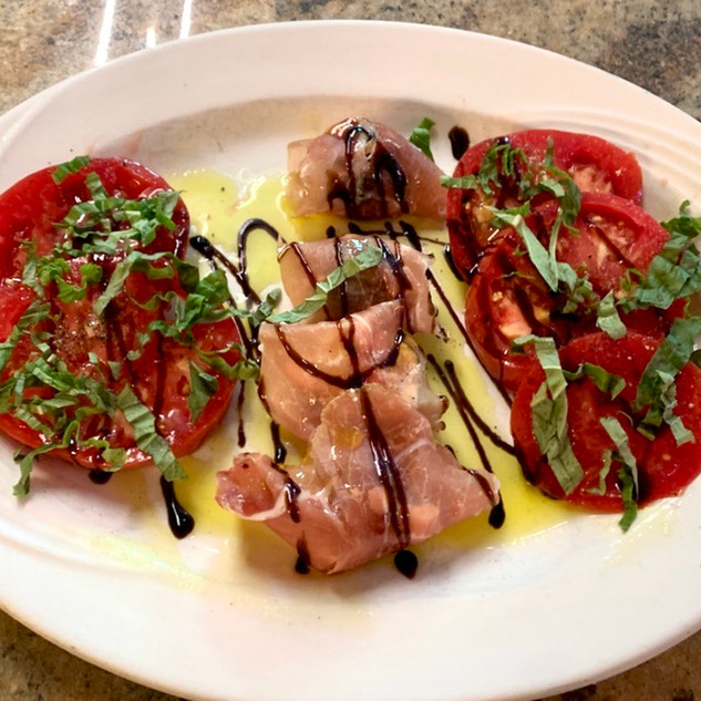 Prosciutto Wrapped Figs with Garden Tomatoes