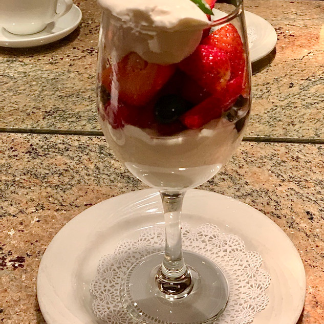 Berry Parfait in glass