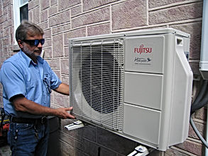 mini split or ductless air conditioner installation