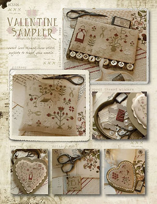 Valentine Sampler by With Thy Needle & Thread