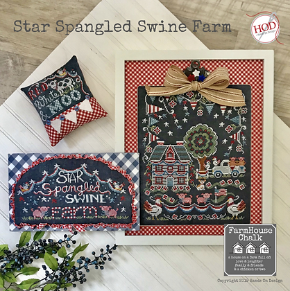 CATS Star Spangled Swine Farm by Hands On Design
