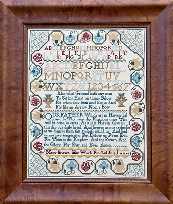Mary Brown 1765 by Hands Across the Sea Samplers