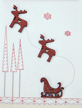 Reindeer with Sleigh by The Bee Company TBN17
