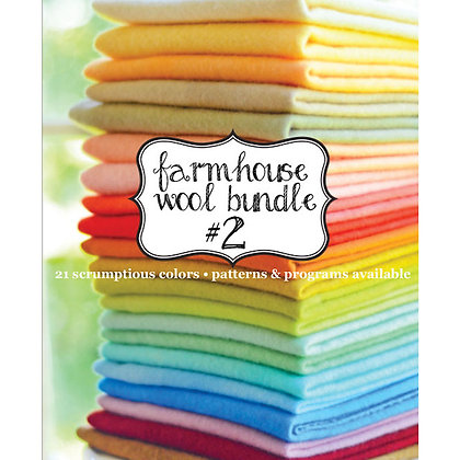 Farmhouse 2 Wool Bundle by Fig Tree & Co and Weeks Dye Works