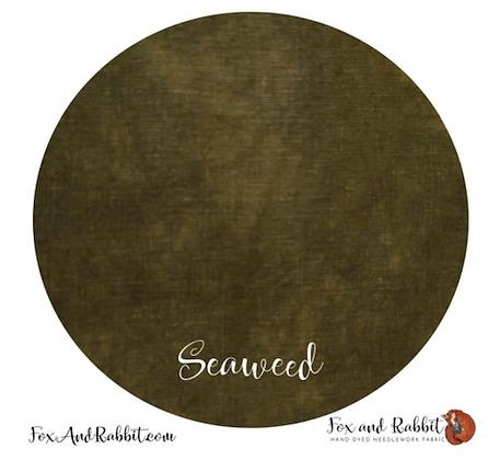 32 Count Seaweed Linen Fat Quarter Cut by Fox & Rabbit Designs