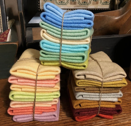 Fig Tree Hand-Dyed Wool Bundles (Choose Your Stack)