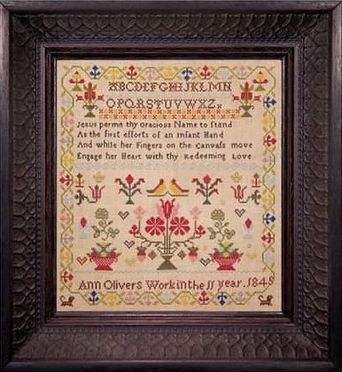 Ann Oliver 1845 DOWNLOAD by Hands Across the Sea Samplers