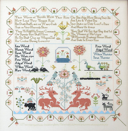Sarah Worrall 1790 by Queenstown Sampler Designs