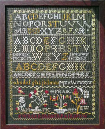 New England Sampler Circa 1810 by The Scarlet Letter