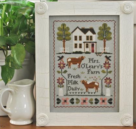 Mrs. O'Leary's Dairy Farm by Little House Needleworks