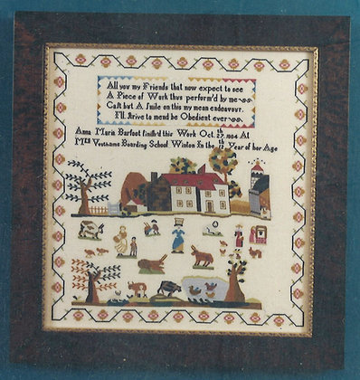 Anna Maria Barfoot KIT with floss/linen by The Scarlet Letter