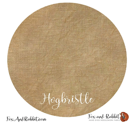 36 Count Hogbristle Linen Fat Quarter Cut by Fox & Rabbit Designs