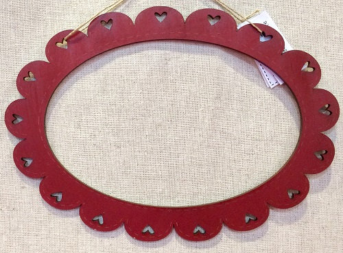 Red Oval Frame by The Bee Company CARovale