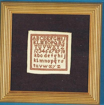 Miniature Sampler c1805 KIT with silk/linen by The Scarlet Letter