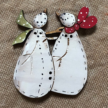 *Snow Friends Button by Theodora Cleave