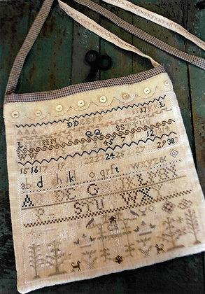 Buttermilk & Blue cross stitch chart by Stacy Nash Primitives