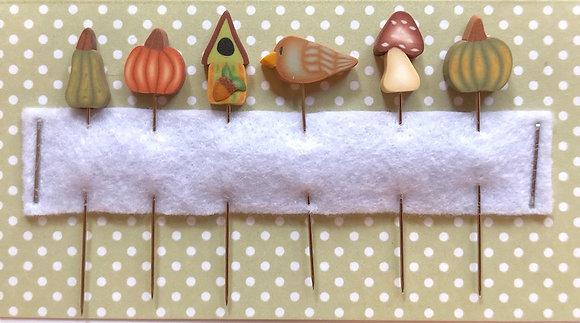 Autumn Woods Pin Set by Puntini Puntini