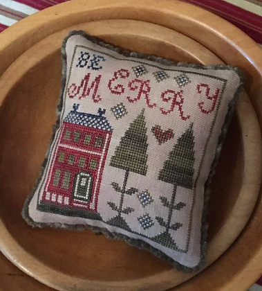 Be Merry Pyn Pillow by Chessie & Me
