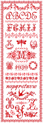Manon's Red Sampler by Marjorie Massey RC51