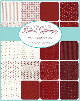 Redwork Gatherings Fat Quarter Bundle by Primitive Gatherings/MODA