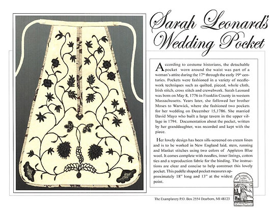 Sarah Leonard's Wedding Pocket Boxed KIT by The Examplarery