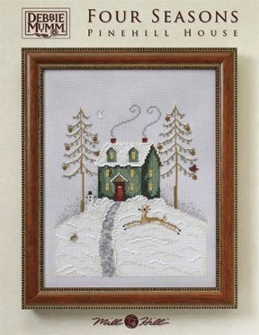 CATS Pinehill House by Debbie Mumm/Mill Hill WITH BEADS & TREASURES