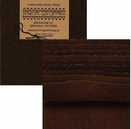 """CHOCOLATE Wool 5"""" Charm Pack by Primitive Gatherings"""