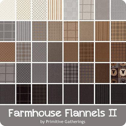 Farmhouse Flannels II Fat Quarter Bundle by Primitive Gatherings/Moda