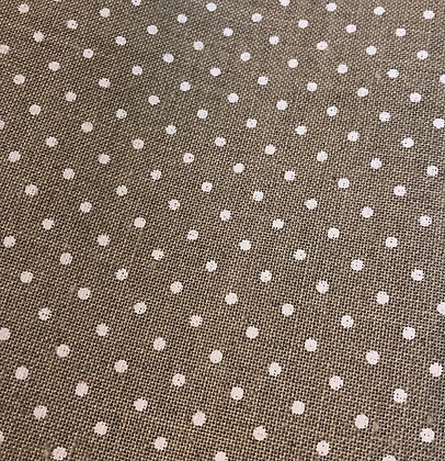 Fat Eighth 32 Count Natural/White Polka Dot Linen by Zweigart